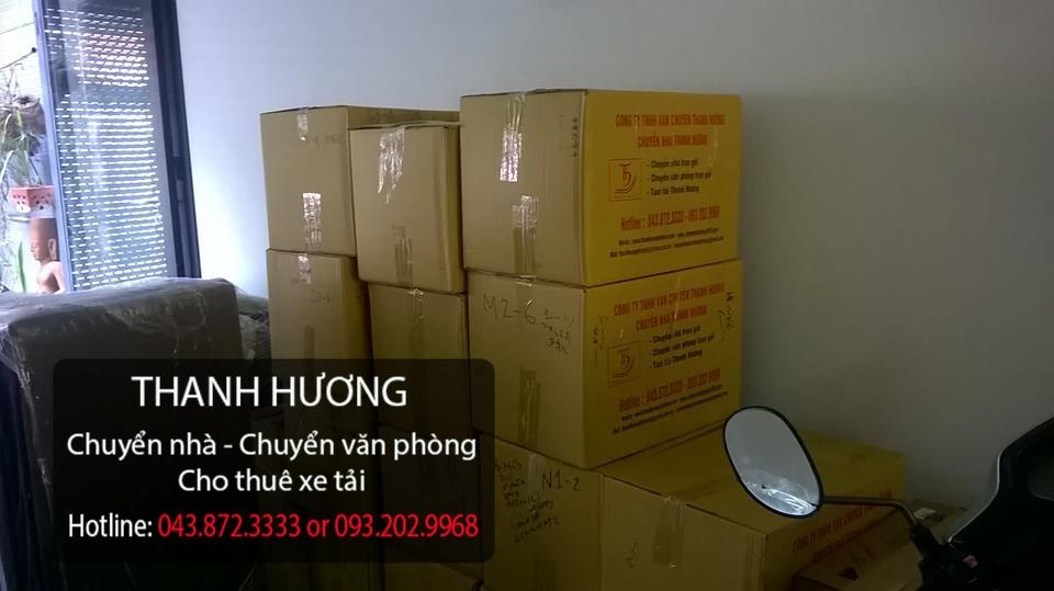 Quy cách đóng thùng của chuyển văn phòng Thanh Hương tại phố Nguyễn Chí Thanh