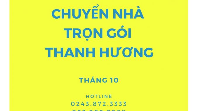 Dịch vụ chuyển văn phòng Thanh Hương tại phường Việt Hưng